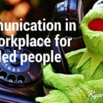 Kermit the Frog talking on the phone