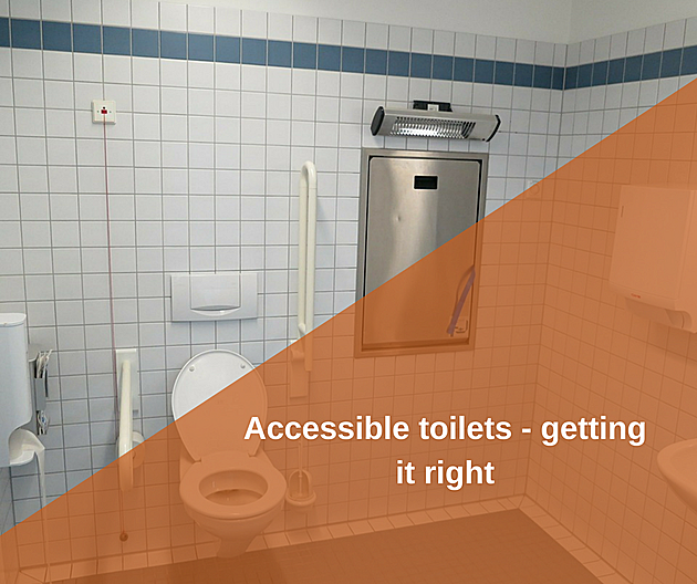 large accessible toilet